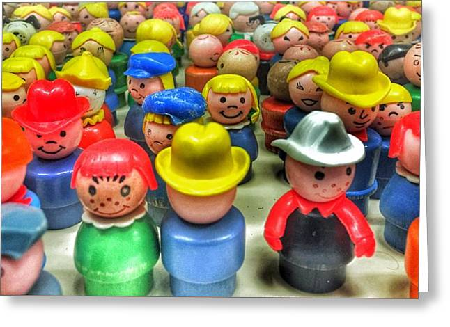 Little People Greeting Card by Jame Hayes