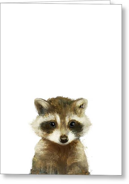 Little Raccoon Greeting Card by Amy Hamilton