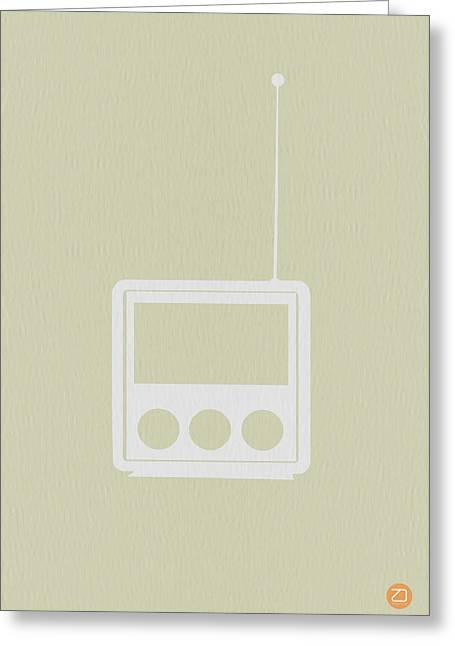 Radio Print Greeting Cards - Little Radio Greeting Card by Naxart Studio
