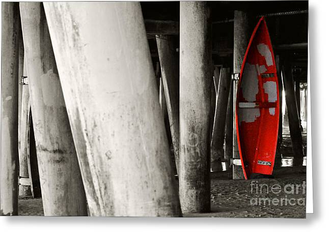 Bruster Greeting Cards - Little Red Boat II Re-edit Greeting Card by Clayton Bruster