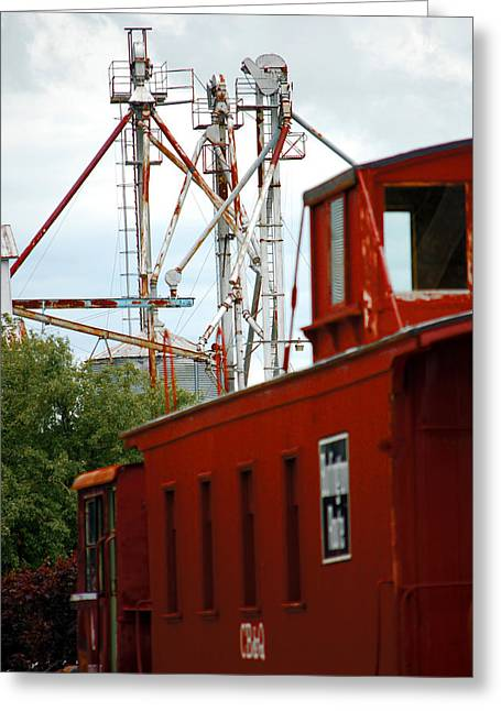 Little Red Caboose Greeting Card by Jame Hayes