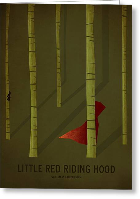 Printed Greeting Cards - Little Red Riding Hood Greeting Card by Christian Jackson