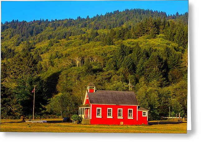 Little Red School House Greeting Card by Garry Gay