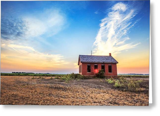 Country Schools Photographs Greeting Cards - Little Red Schoolhouse Greeting Card by Jill Van Doren Rolo