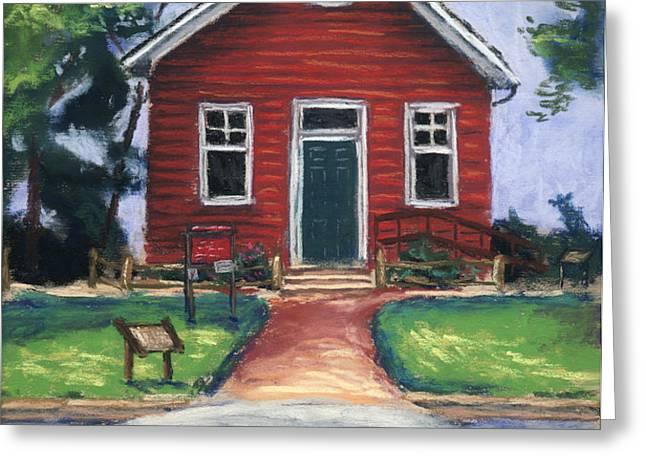 Little Red Schoolhouse Nature Center Greeting Card by Christine Camp
