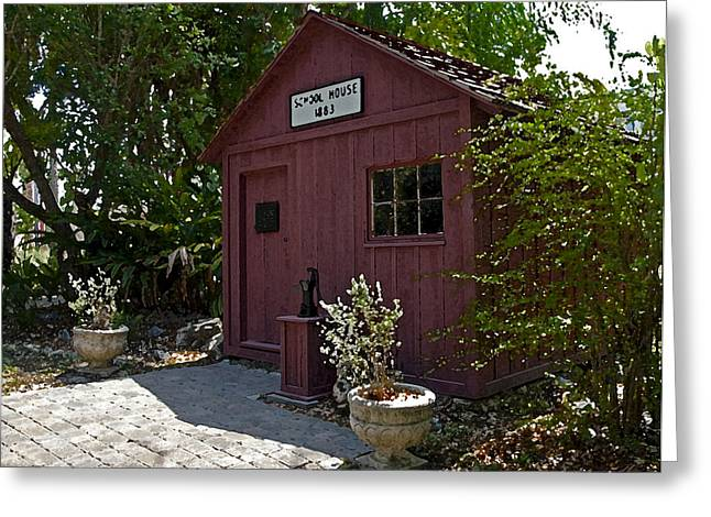 One Room School Houses Digital Greeting Cards - Little Red Schoolhouse Three Greeting Card by Allan  Hughes