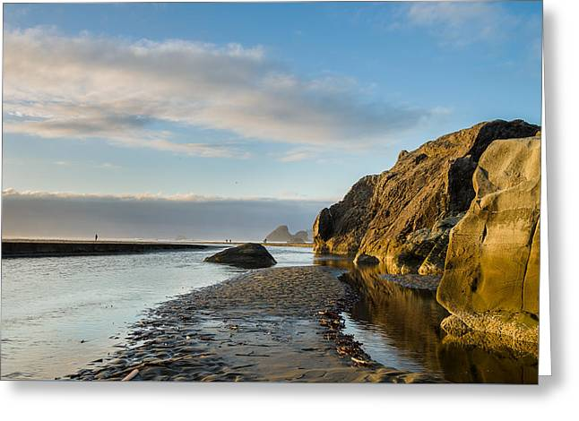 Moonstone Beach Greeting Cards - Little River to the Sea Greeting Card by Greg Nyquist