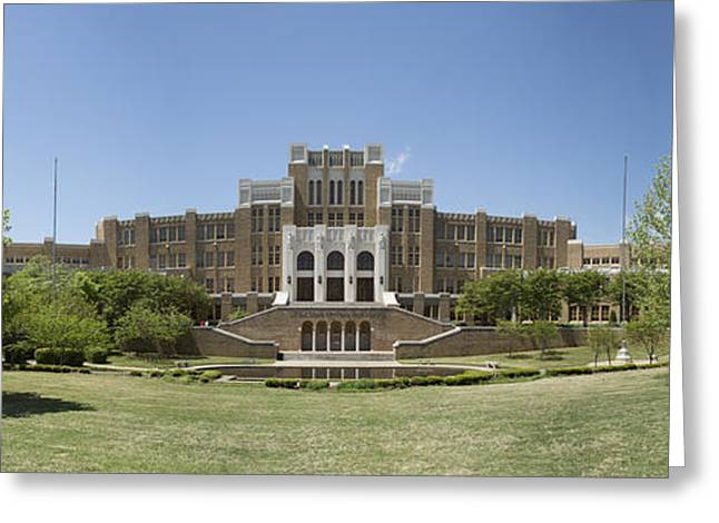 Arkansas Greeting Cards - Little Rock Central High Panoramic Greeting Card by Stephen Stookey