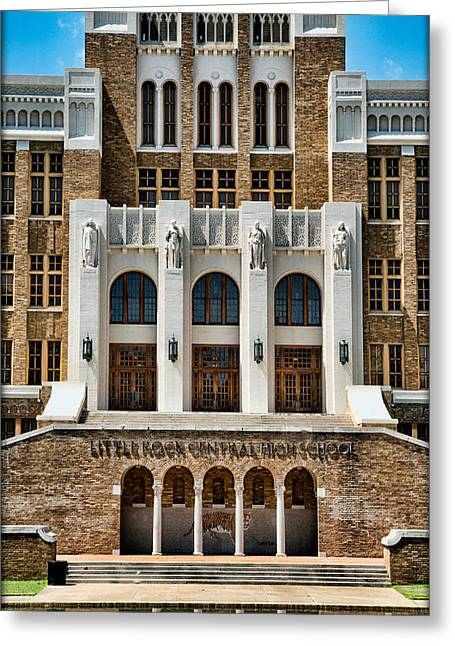 Little Rock Arkansas Greeting Cards - Little Rock Central High School Greeting Card by Stephen Stookey