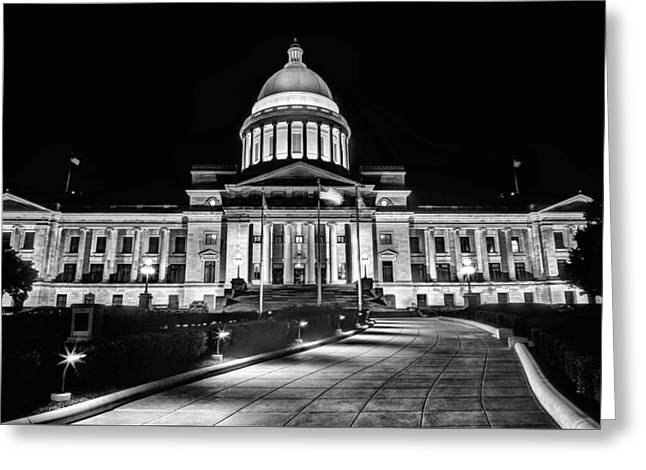 Little Rock Arkansas Greeting Cards - Little Rock State Capitol Building Greeting Card by JC Findley