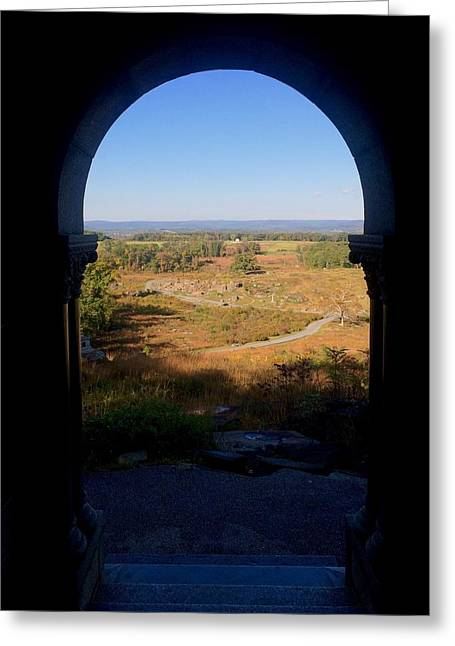 Devils Den Greeting Cards - Little Roundtop POV Greeting Card by Kacie Donnelly
