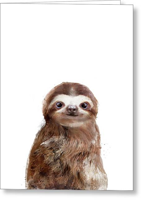 Little Sloth Greeting Card by Amy Hamilton