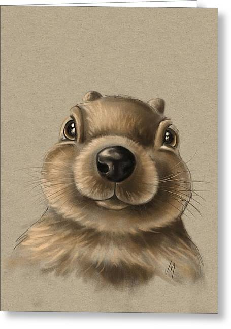 Childrens Portraits Greeting Cards - Little squirrel Greeting Card by Veronica Minozzi