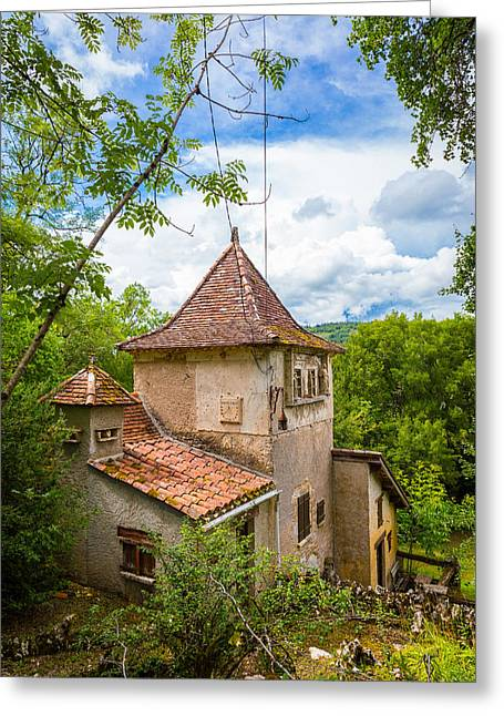 Collective Greeting Cards - Little structure at Saint Circ Lapopie Greeting Card by Semmick Photo