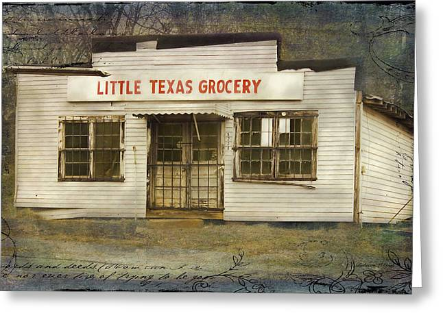 Grocery Store Greeting Cards - Little Texas Grocery Greeting Card by Bellesouth Studio