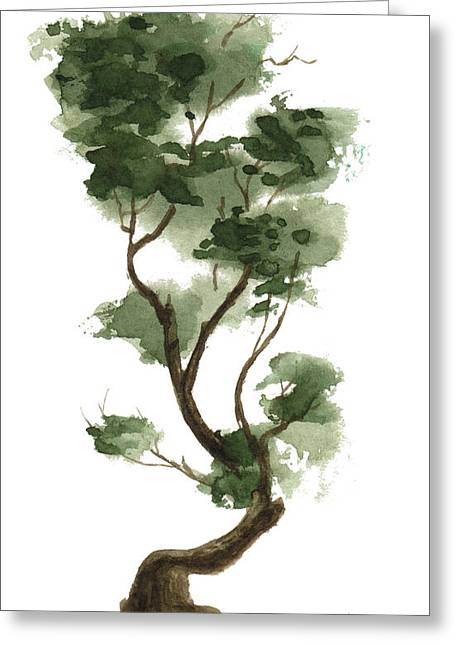 Sean Seal Greeting Cards - Little Tree 132 Greeting Card by Sean Seal
