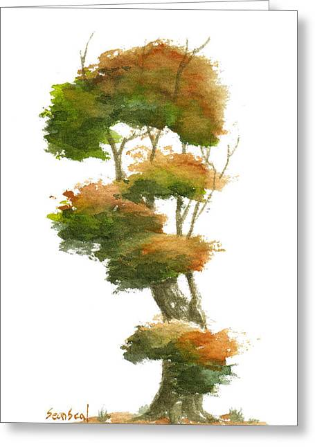 Sean Seal Greeting Cards - Little Tree 23 Greeting Card by Sean Seal