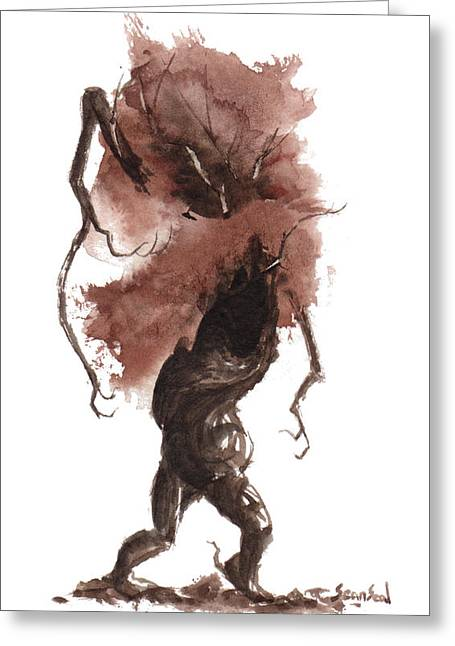 Tree Spirit Greeting Cards - Little Tree 43 Greeting Card by Sean Seal