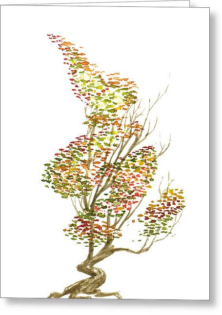 Experiment Paintings Greeting Cards - Little Tree 51 Greeting Card by Sean Seal