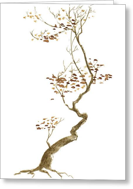 Asian Influence Greeting Cards - Little Tree 54 Greeting Card by Sean Seal