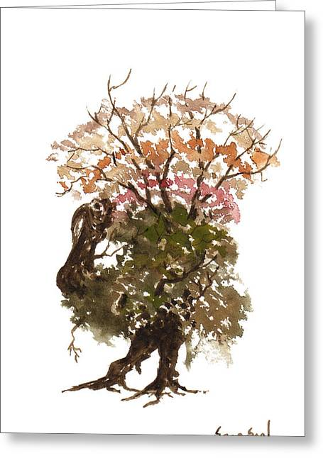Sean Seal Greeting Cards - Little Tree 67 Greeting Card by Sean Seal