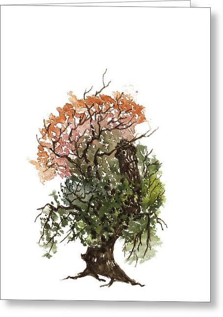 Sean Seal Greeting Cards - Little Tree 71 Greeting Card by Sean Seal