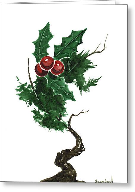 Sean Seal Greeting Cards - Little Tree 96 Greeting Card by Sean Seal