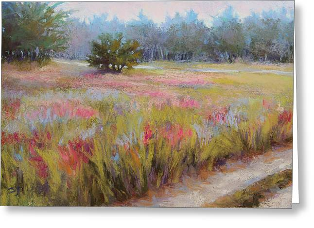 Morning Pastels Greeting Cards - Little Tree Road Greeting Card by Susan Jenkins