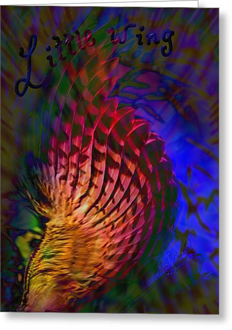 Little Wing Greeting Card by Kevin Caudill