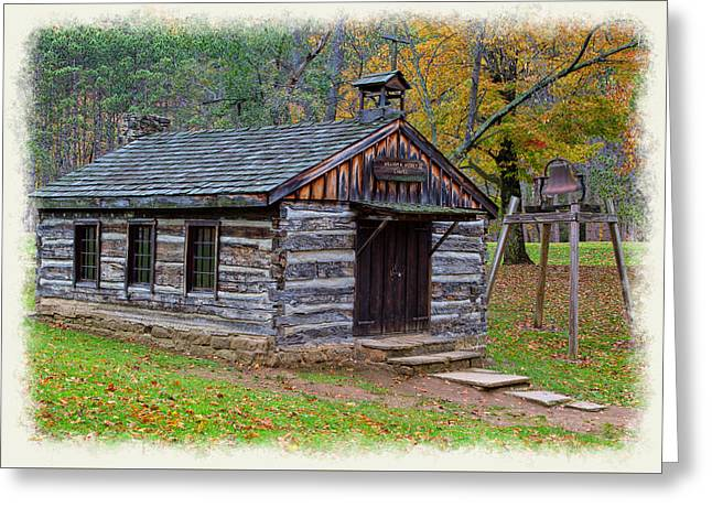 Fishing Creek Greeting Cards - Little Wooden Chapel Greeting Card by John Bailey