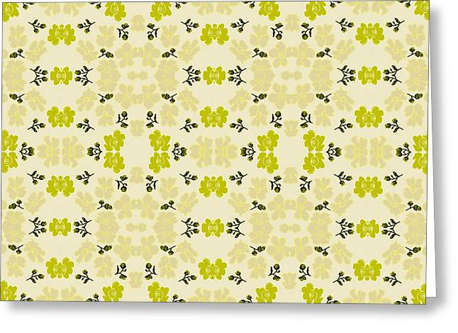 Festivities Greeting Cards - Little Yellow Roses Greeting Card by Lena Kouneva