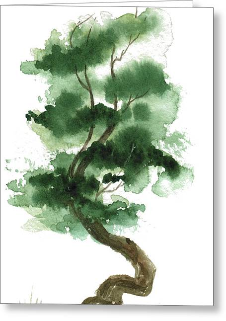 Sean Seal Greeting Cards - Little Zen Tree 151 Greeting Card by Sean Seal