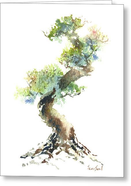 Little Zen Tree 1692 Greeting Card by Sean Seal
