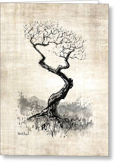 Little Zen Tree 1820 Greeting Card by Sean Seal