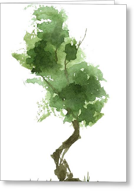 Little Zen Tree 187 Greeting Card by Sean Seal