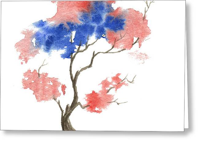 Little Zen Tree 291 Greeting Card by Sean Seal