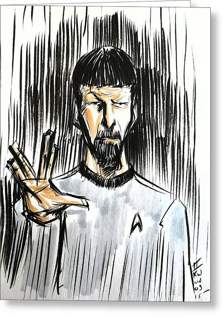 Trekkie Greeting Cards - Live Long and Prosper...... Greeting Card by Tu-Kwon Thomas
