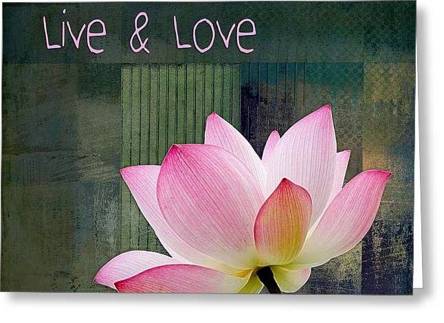 Live N Love - - 0333-15a Greeting Card by Variance Collections