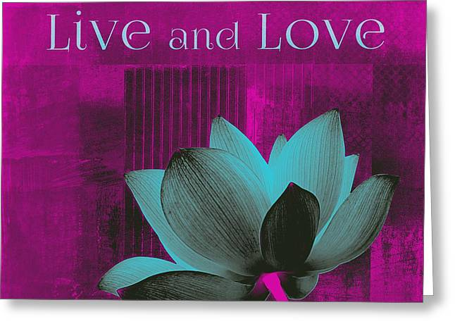 Square Format Greeting Cards - Live n Love - 15a01 Greeting Card by Variance Collections