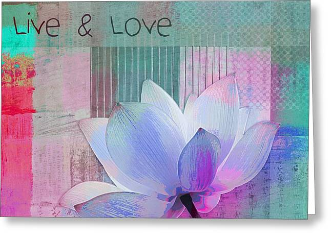 Live N Love - 2922a Greeting Card by Variance Collections