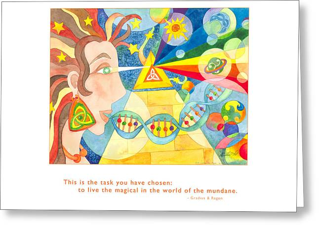 Metaphysics Paintings Greeting Cards - Live the Magical Greeting Card by Kristen Fox
