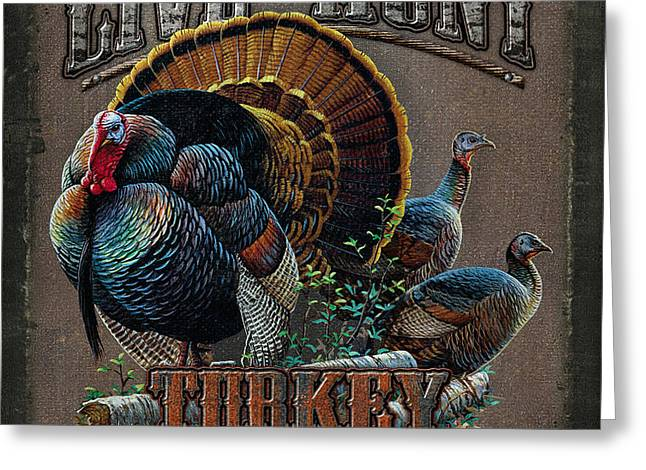 Live to Hunt Turkey Greeting Card by JQ Licensing