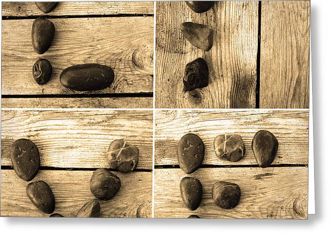 Old Plank Tables Digital Greeting Cards - Live Greeting Card by Toppart Sweden