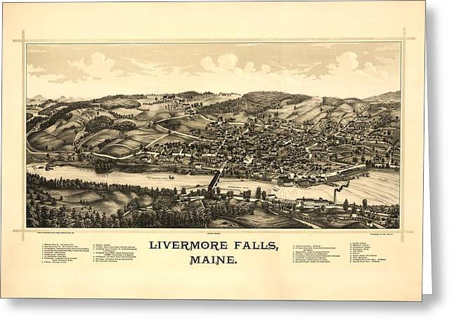 Livermore Falls Maine Greeting Card by Mountain Dreams