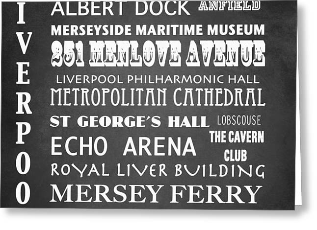 251 Greeting Cards - Liverpool Famous Landmarks Greeting Card by Patricia Lintner