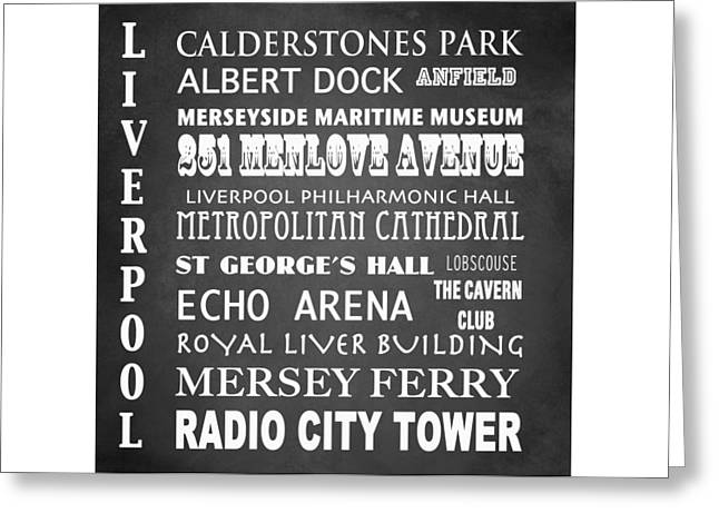 Cavern Club . Greeting Cards - Liverpool Famous Landmarks Greeting Card by Patricia Lintner