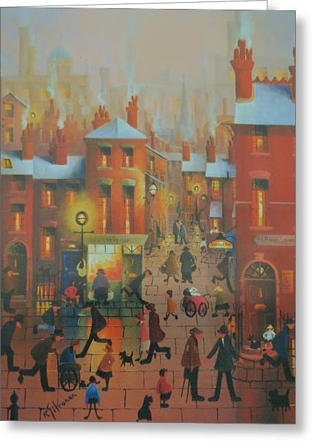 Liverpool Street Scene.the Doctors Surgery Greeting Card by Raymond Alfred Gilronan