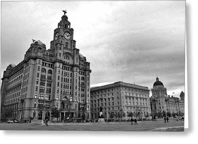 Boat Cruise Greeting Cards - Liverpools Three Graces Greeting Card by Colin Perkins