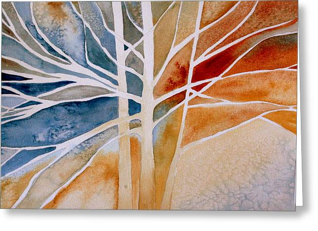 Julielueders Greeting Cards - Lives Intertwined 2 Greeting Card by Julie Lueders