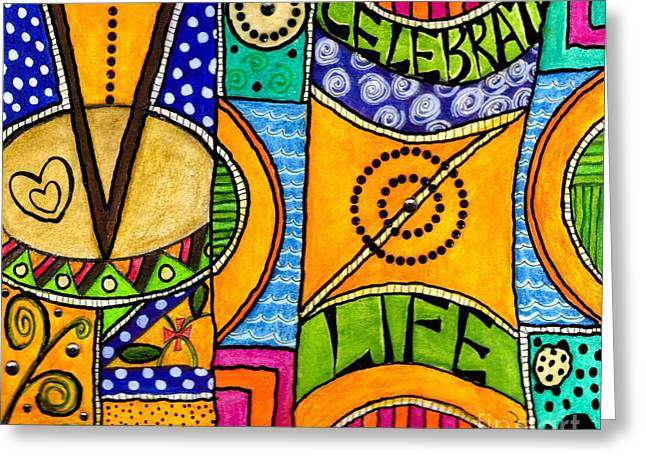 Survivor Art Greeting Cards - Living a VIBRANT Life Greeting Card by Angela L Walker